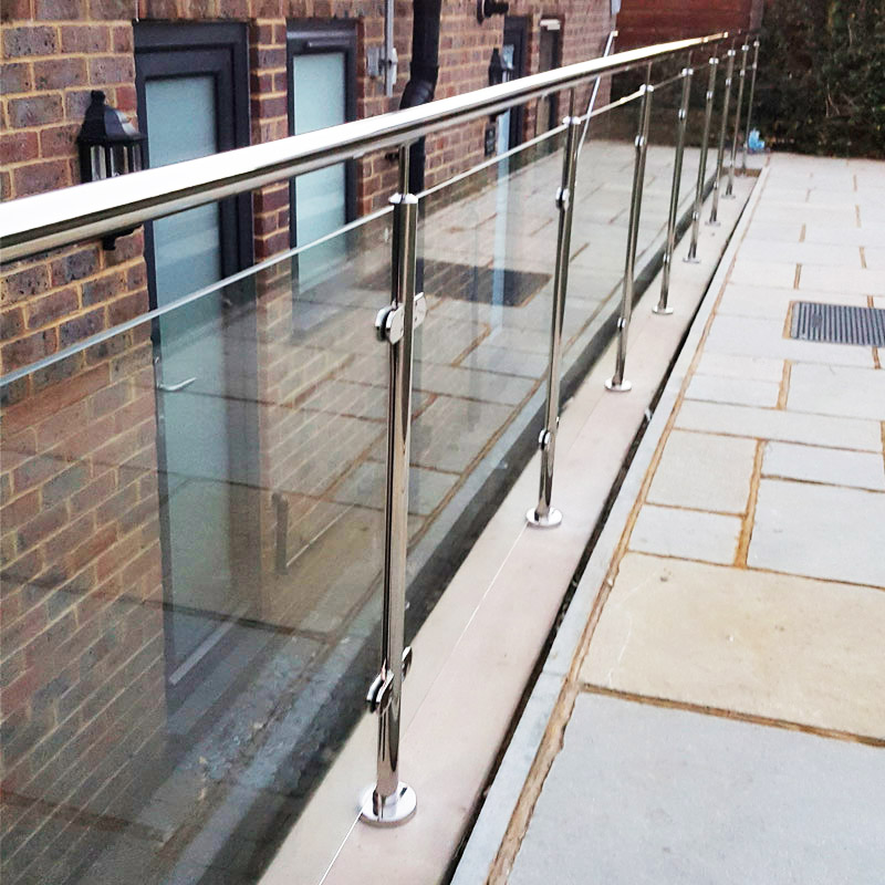 External Staircase Glass Balustrade