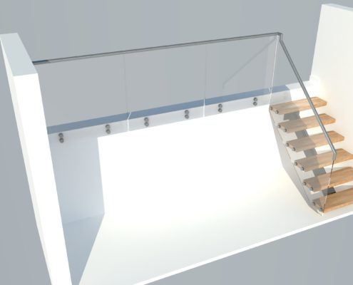 A staircase designed for a private client in lewes