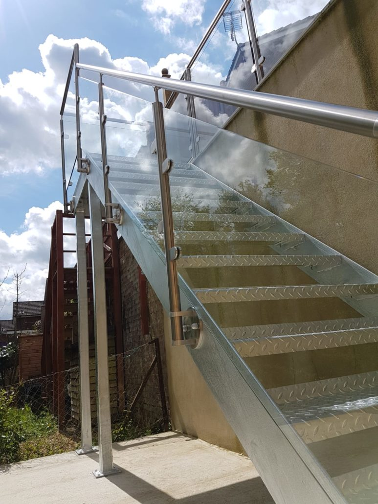 Metal And Glass External Staircase Installed In Brighton